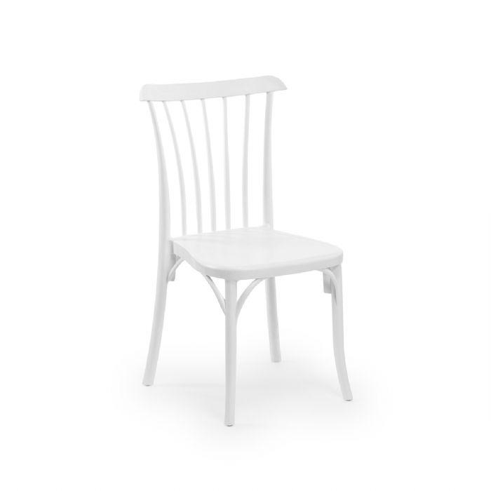 כיסא פסים לבן