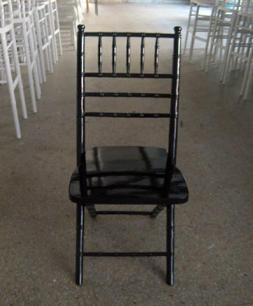 כסא צ'יברי שחור מתקפל