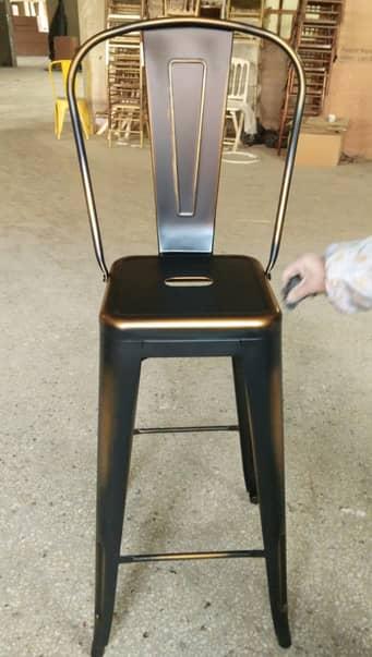 כיסא בר טוליקס עם משענת