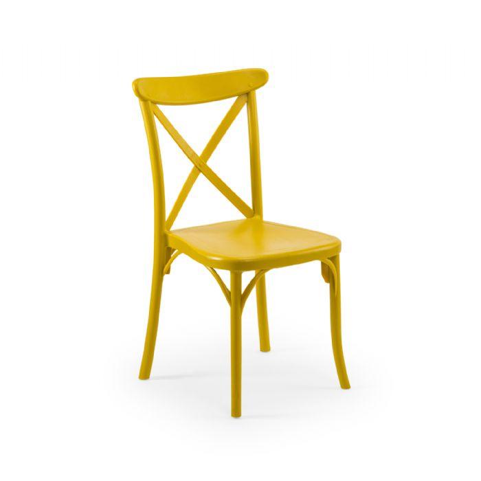 כיסא איקס צהוב