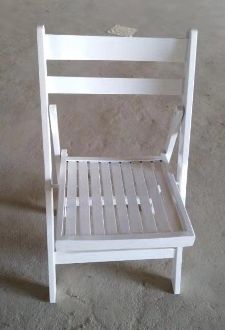 כיסא עץ מתקפל מושב שלבים (לבן) – ניתן לקבל בכל צבע