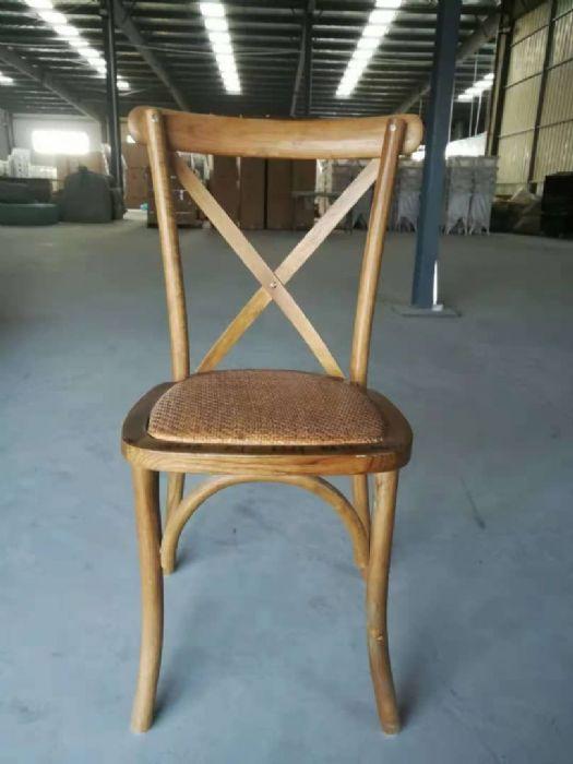 כיסא איקס עץ כרית ראטן