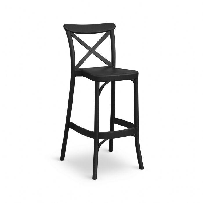 כיסא בר איקס שחור