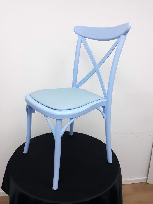 כיסא איקס תכלת עם כרית