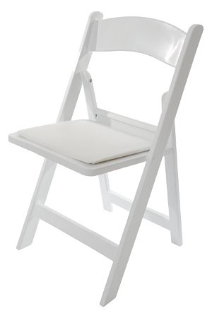 כיסא עץ מתקפל לבן – white folding chair
