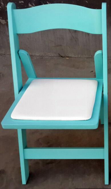 כיסא עץ מתקפל טיפני – Tiffany Blue Wood folding chair