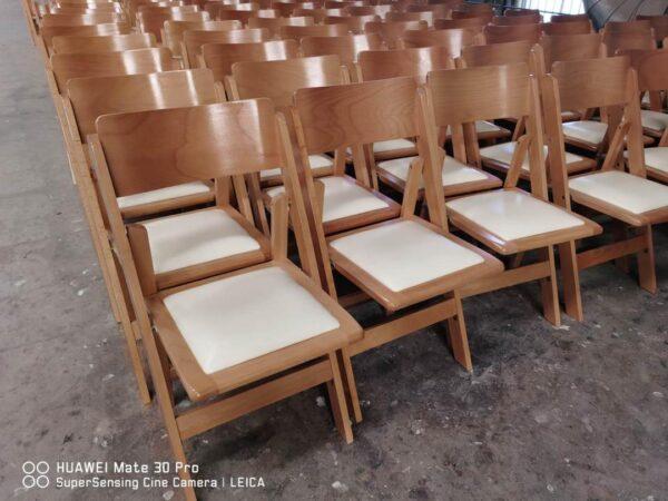 כיסא עץ מתקפל טבעי משופר