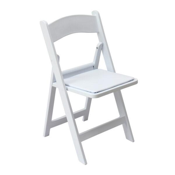 כיסא פלסטיק לבן מתקפל