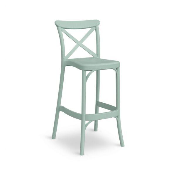 כיסא בר איקס ירוק