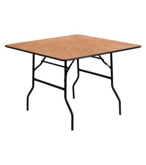 """שולחן אירועים מרובע 122 ס""""מ"""